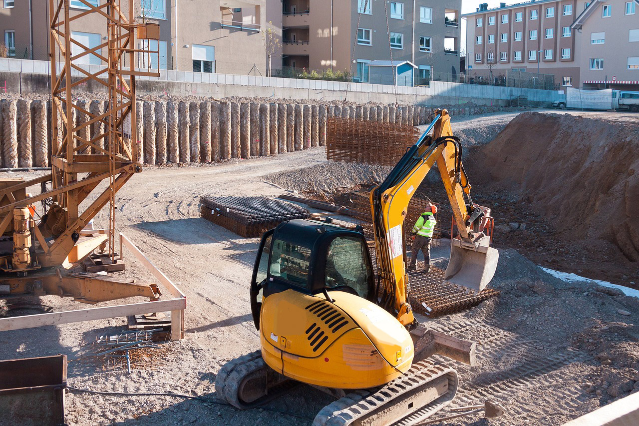 Baugruben und Gräben