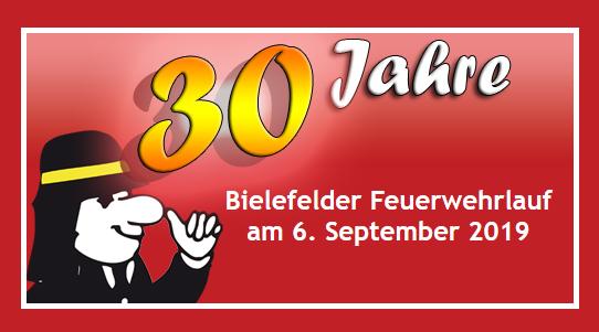 Ankündigung zum Bielefelder Feuerwehrlauf 2019